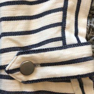 Banana Republic Dresses - Navy and cream striped dress
